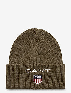 D1. MEDIUM SHIELD RIB BEANIE - huer - sea turtle