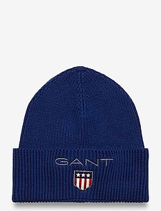 D1. MEDIUM SHIELD RIB BEANIE - huer - strong blue
