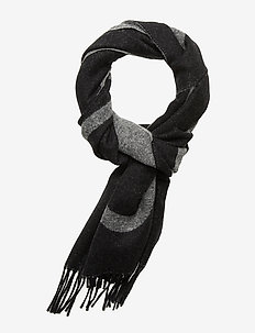 D1. LOGO WOOL SCARF - BLACK