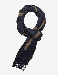 D1. LOGO WOOL SCARF - scarves - marine