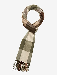D2. MULTI CHECK WOOL SCARF - JAVA