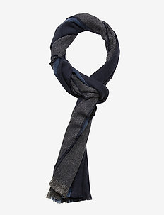D1. STRIPED WOOL SCARF - CHARCOAL MELANGE