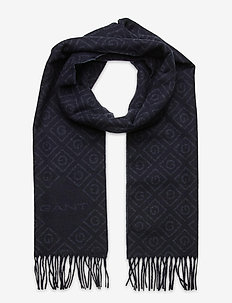 D1. ICON G WOOL SCARF - scarves - navy