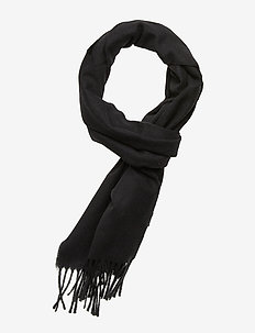 SOLID WOOL SCARF - BLACK