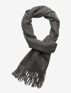 SOLID WOOL SCARF - CHARCOAL MELANGE