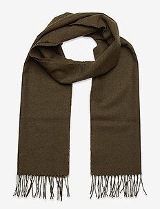SOLID WOOL SCARF - scarves - dark cactus