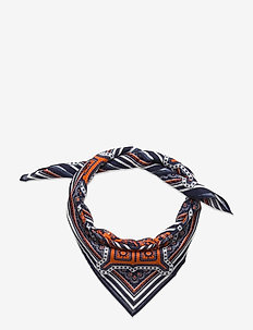 D1. COTTON BANDANA - scarves - dark orange