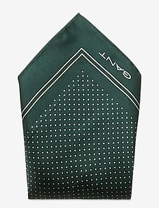 D1. DOT SILK POCKETSQUARE - pocket squares - tartan green