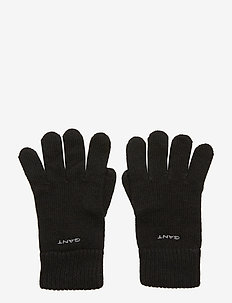 KNITTED WOOL GLOVES - hansker - black