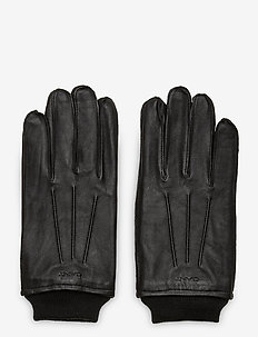 LEATHER GLOVES - hansker - black