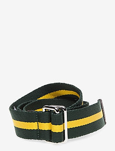 D1. RUGBY STRIPE WEBBING BELT - belts - kelly green