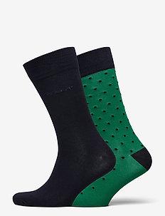 2-PACK SOLID AND DOT SOCKS - regular socks - kelly green