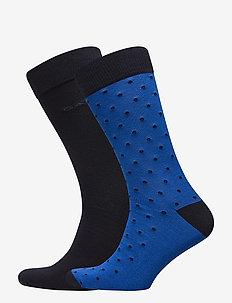 2-PACK SOLID AND DOT SOCKS - vanlige sokker - nautical blue