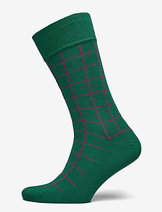 D1. CONTRAST CHECK SOCKS - IVY GREEN