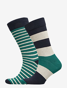 D1. 2-PACK STRIPED SOCKS - IVY GREEN