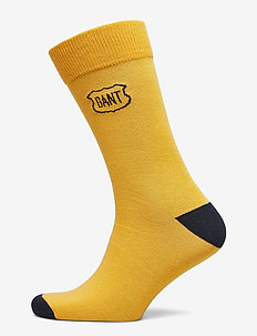 D1. GANT INTARSIA SOCKS - HONEY GOLD