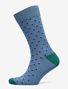 D1. CONTRAST DOT SOCKS - CORONET BLUE