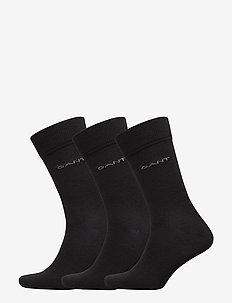 3-PACK WOOL SOCKS - BLACK
