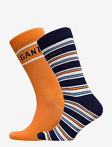 D1. STRIPE AND LOGO SOCK GIFTBOX - regular socks - amberglow