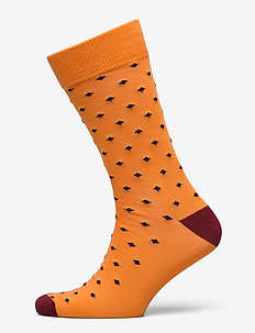 D1. DIAMOND DOT SOCK - regular socks - amberglow