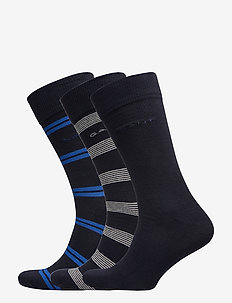 D1. 3 PACK MIXED SOCK - NAUTICAL BLUE
