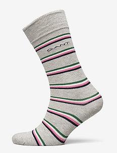 D1. 1 PACK MULTI STRIPE - regular socks - light grey melange