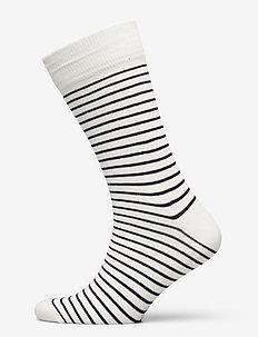 D1. 1  PACK STRIPED SOCK - regular socks - eggshell