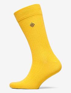 D1. SOLID RIB SOCK EMB SOCKS - regular socks - warm sun