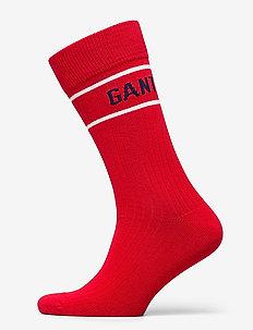 D1. LOGO RIB SOCK - regular socks - bright red