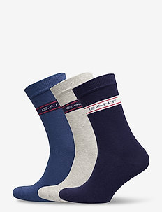 D1. 3 PACK ARCHIVE STRIPE SOCKS - regular socks - evening blue