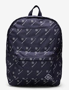 D1. AOP BACK PACK - backpacks - evening blue