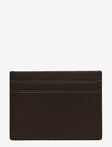 LEATHER CARDHOLDER - BLACK COFFEE