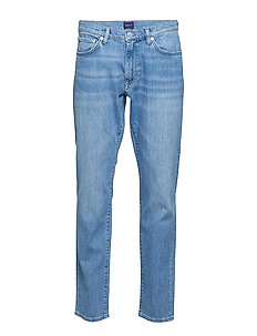 SLIM GANT JEANS - slim jeans - light blue worn in