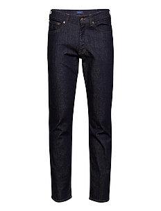 REGULAR GANT JEANS - regular jeans - dark blue