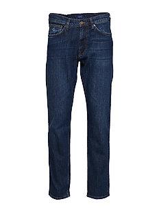REGULAR GANT JEANS - regular jeans - dark blue worn in