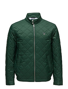 O1. THE QUILTED WINDCHEATER - PINE GREEN