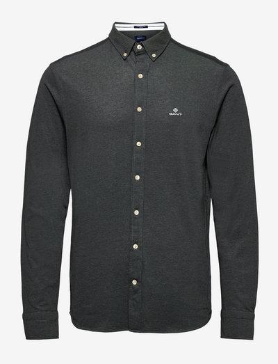 TP REG PIQUE BD - basic shirts - black