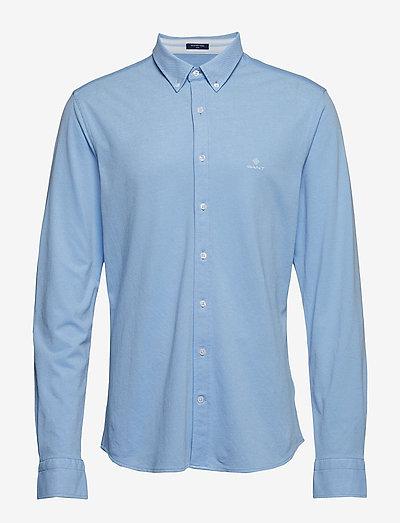 TP SLIM PIQUE BD - basic shirts - capri blue