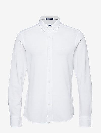TP SLIM PIQUE BD - basic shirts - white