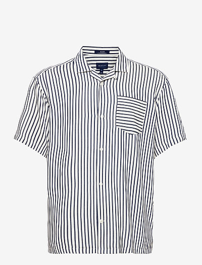 D1. REL STRIPE GANT RIVIERA - koszule w kratkę - persian blue