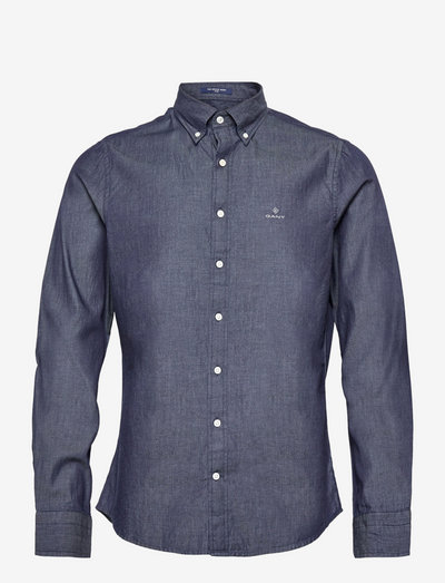 SLIM INDIGO BD - denim shirts - dark indigo