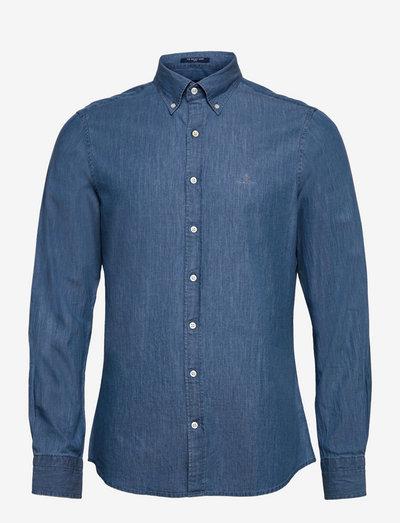 SLIM INDIGO BD - denim shirts - semi light blue