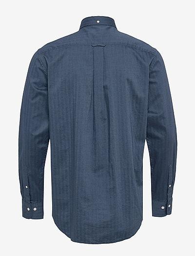 Gant D1. Herringbone Solid Reg Bd- Hemden