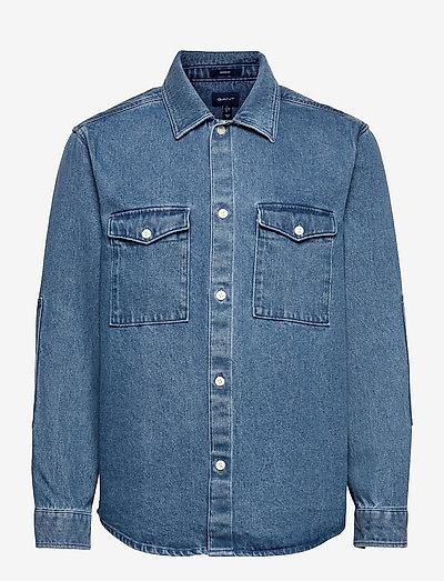 18. D2. REG DENIM SHIRT TOWN - podstawowe koszulki - indigo