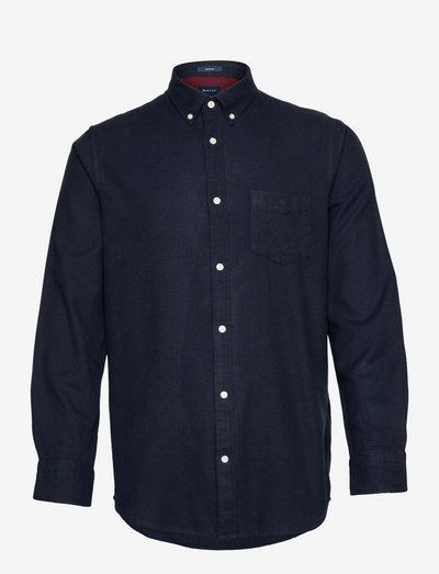 D2. REG HERRINGBONE FLANNEL BD - casual shirts - evening blue