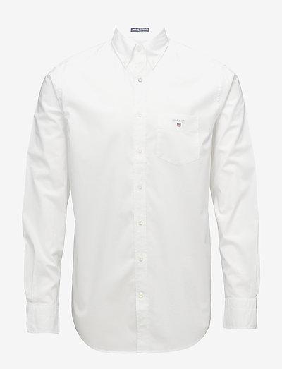 REG BROADCLOTH BD - oxford shirts - white