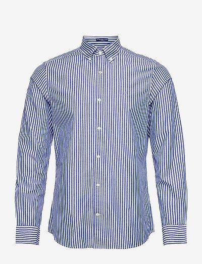 SLIM BROADCLOTH STRIPE BD - casual shirts - college blue