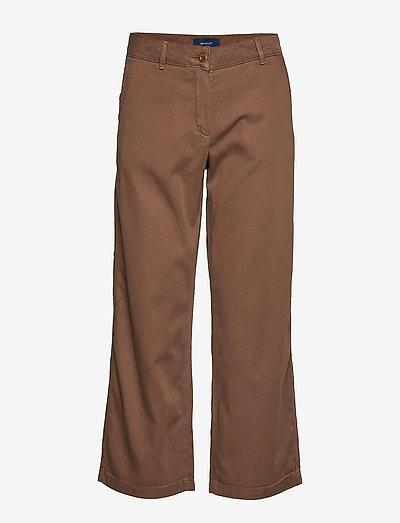 D1. CROPPED SLIM SLOUCH - bukser med brede ben - rain drum