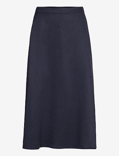 D1. TWILL WRAP MIDI SKIRT - midi kjolar - evening blue