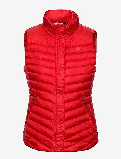 LIGHT DOWN GILET - vestes rembourrées - bright red
